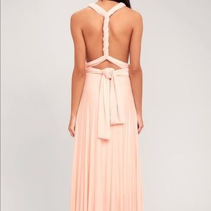 b4e0cd1d8516 Lulu's Dresses | Tricks Of The Trade Blush Pink Maxi Dress | Poshmark